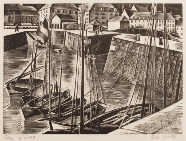 MALET Guy Seymour S.W.E. (1900-1979) - 'Dieppe'.