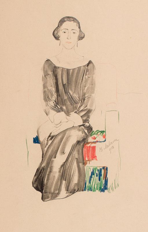MALIAVIN Philip (Filip Andreyich Malyavin) (1869-1940) - Seated lady.