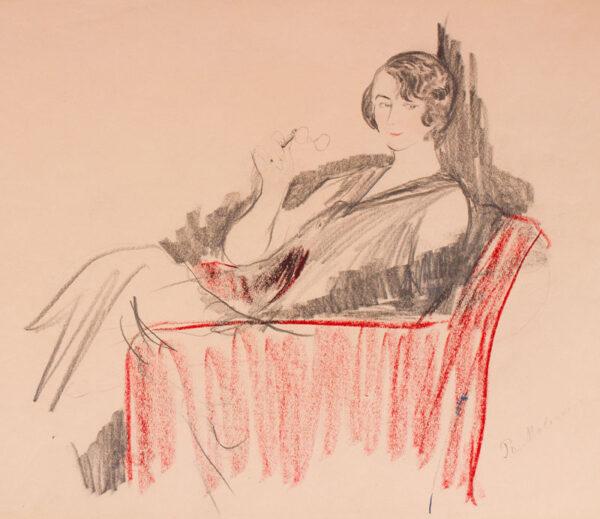 MALIAVIN Philip (Filip Andreyich Malyavin) (1869-1940) - The lorgnette.
