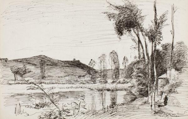 MARCHAND Jean (1883-1940) - River landscape.