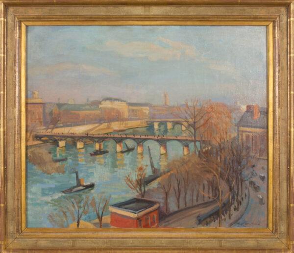 MARCHAND Jean Hippolyte (1883-1940) - The Pont des Arts and Pont Neuf, Paris.