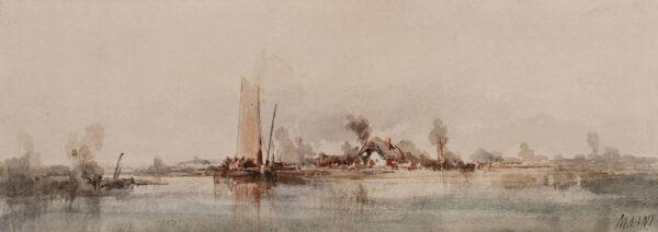 MARNY Paul (1829-1914) - Marshes, Holland.