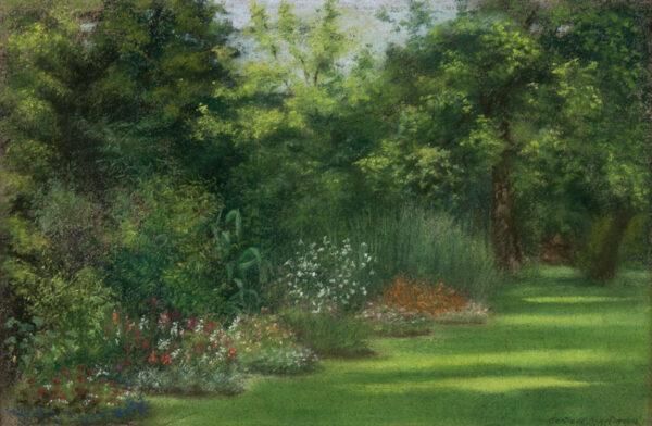 MARTINEAU Gertrude (c.1837-1911) - Summer border.