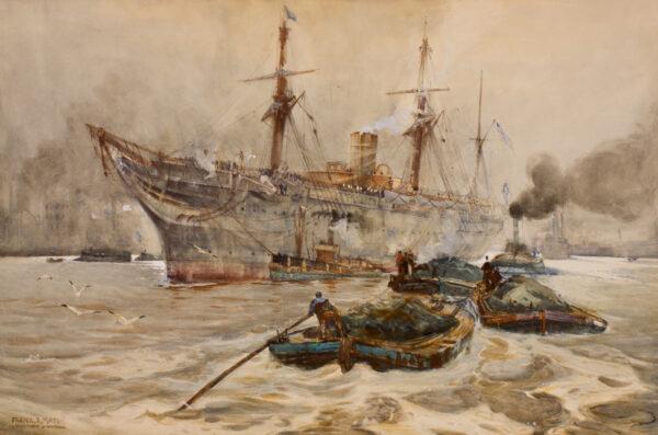 MASON Frank H.R.B.A. R.I. (1875-1965) - 'The Busy Thames'.