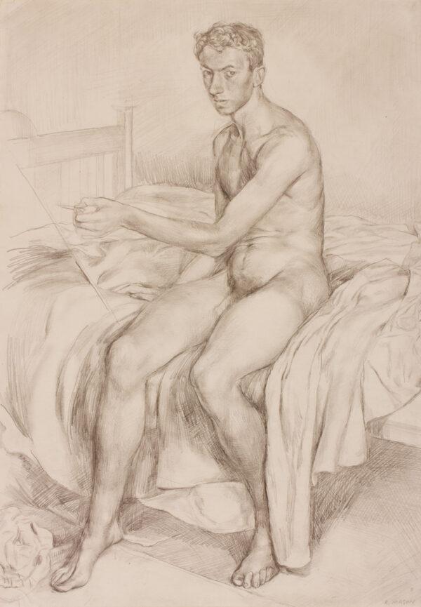 MASON Raymond (1922-2010) - The Life Model; a Self-Portrait.