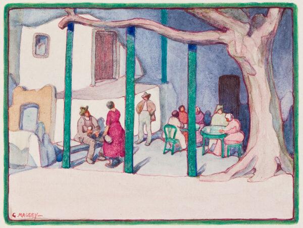 MASSEY Gertrude (1868-1957) - 'Italian Café'.