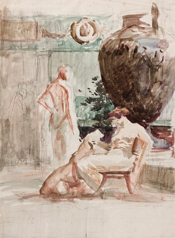 MATANIA Fortunino (1881-1963) - Study for 'The Gift from Caesar'.
