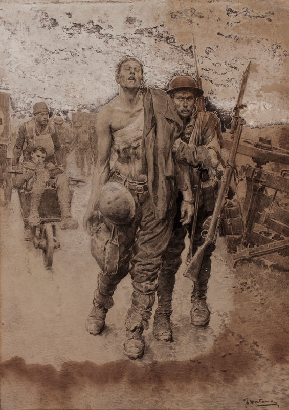 MATANIA Fortunino (1881-1963) - First World War: Return from the Line.