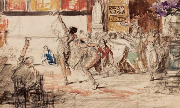 MATANIA Fortunino (1881-1963) - Dancers.