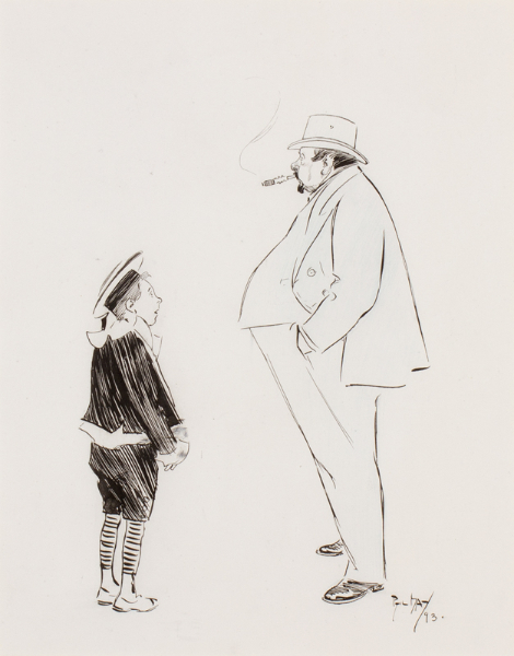 """MAY Phil R.I. (1864-1903) - 'Unanswerable'; """"Have you ever been photographed, Uncle?""""."""