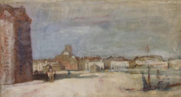 MCEVOY Ambrose N.E.A.C. (1878-1927) - The Quay at Dieppe.