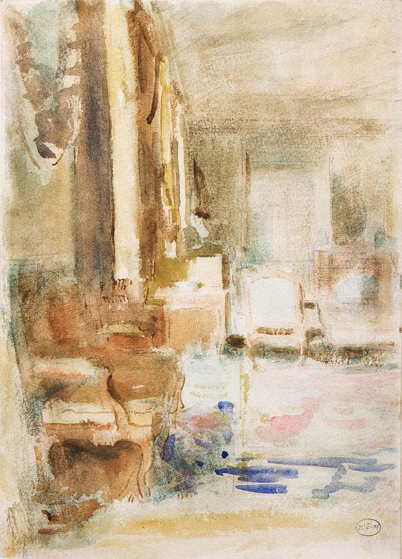 MCEVOY Ambrose N.E.A.C. (1878-1927) - 'Rushbrooke Interior'; Rushbrooke Hall, Suffolk.