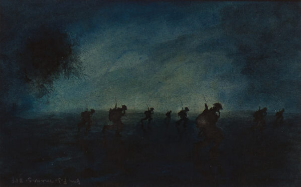 MEARS Gunner F.J. (c.1890-1929) - 'In the Shadows of Death'.