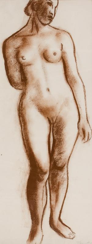 MENINSKY Bernard N.E.A.C. L.G. (1891-1950) - Standing Nude.
