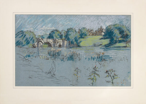 METHUEN Lord (Paul) R.A. (1886-1974) - Blenheim Palace from the lake.