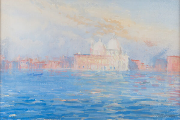 MILLER John (1931-2002) - Venice: the Dogana and Salute from the Bacino.