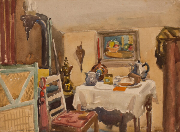 MILNER Thomas Stuart (1909-1969) - 'Interior at Windsor (my flat)'.