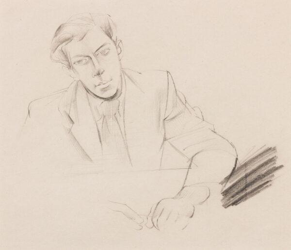 MINTON John R.B.A. L.G. (1917-1957) - Seated man.