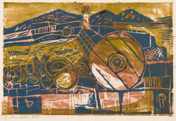 MINTON John R.B.A. L.G. (1917-1957) - 'Corsica Harbour'.