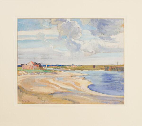 MOIRA Gerald R.W.S. N.P.S. (1867-1959) - The mouth of the Alde, Walberswick, Suffolk.