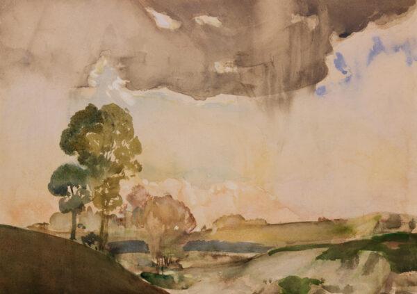 MOIRA Gerald V.P.R.W.S. (1867-1959) - The rain cloud.