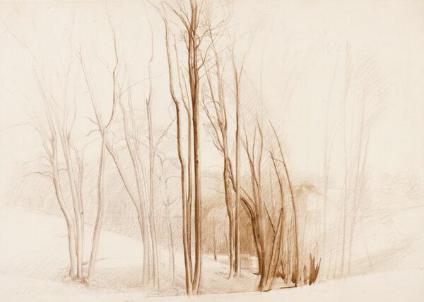 MONNINGTON Sir Thomas P.R.A. (1902-1976) - 'Trees and a drop-gate'.