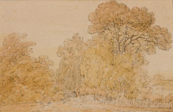 MONRO School. Anon. Circa 1795. - A country lane through trees.