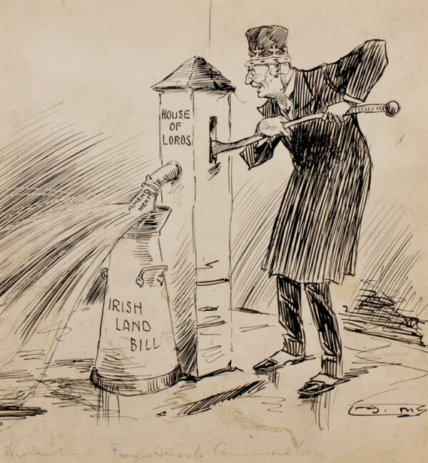 MORELAND Arthur (1867-1951) - The Irish Land Act – 'Diluted for Irish Consumption'.