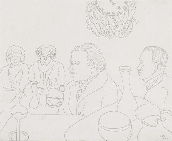 MORRIS Sir Cedric (1889-1982) - A Roman Café.