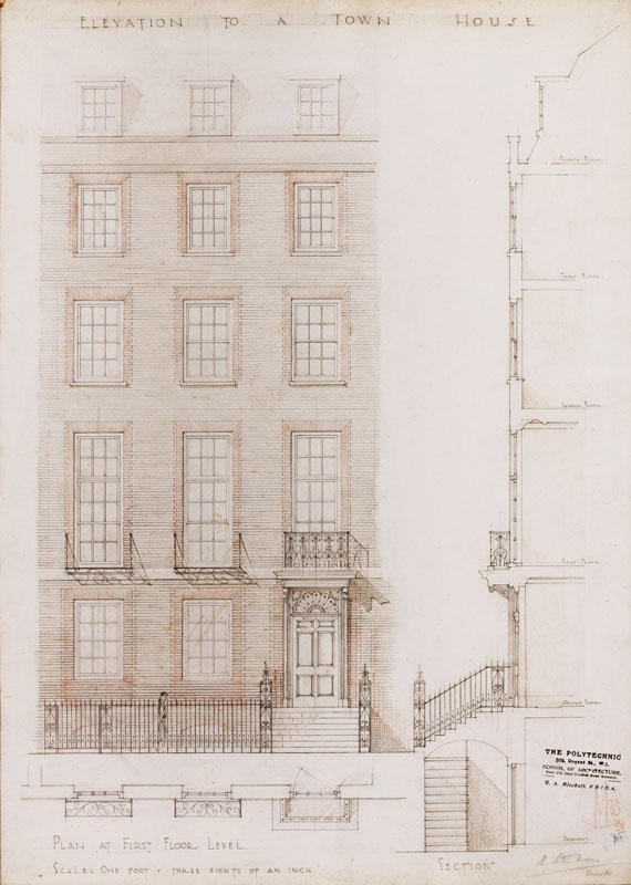 Noel Seton MORRIS (1911-1985) - Twelve designs by an architect who was schooled at the Regent Street Polytechnic School of Architecture from 1929 – 1934 and at the Royal Academy Schools from 1934 – 193(?7).
