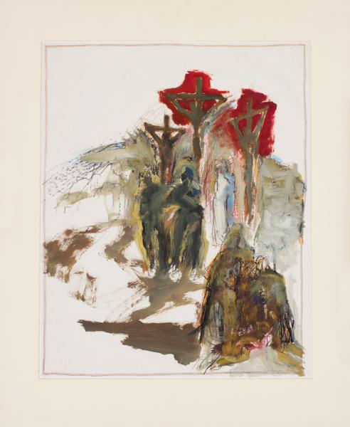MORSBERGER Philip (b.1933) - 'Crucifixion'.