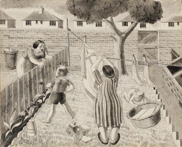 MOSS Colin A.R.C.A. (1914-2005) - Suburban Back garden.