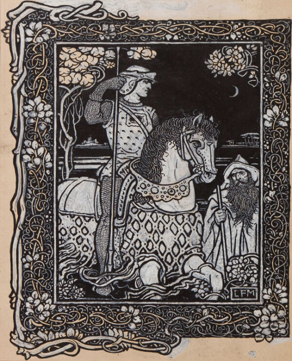 MUCKLEY Louis Fairfax (1862-1926) - 'A goodly knight, all armed in harnesse meete'.