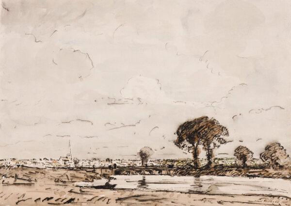 MUIRHEAD David N.E.A.C. (1867-1930) - A ?fen landscape.