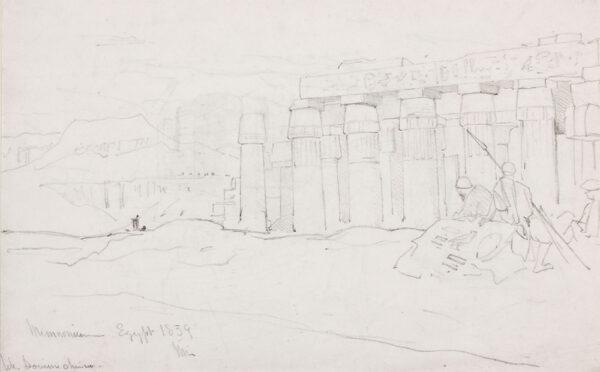 MULLER William (1812-1845) - 'Memnon, Egypt'.