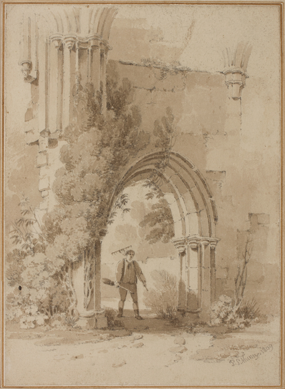 MUNN Paul Sandby (1773-1845) - Arch of Baynham Abbey.