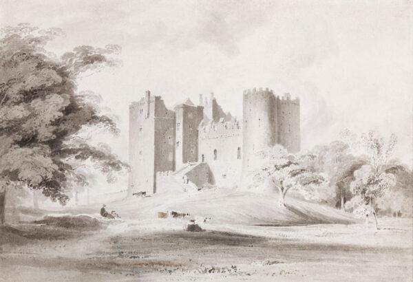 MUNN Paul Sandby (1773-1845) - An unidentified Castle.