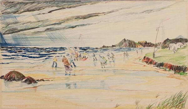 MURRAY Charles (1894-1954) - Icelandic beach.