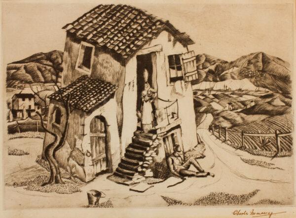 MURRAY Charles (1894-1954) - Italian landscape.