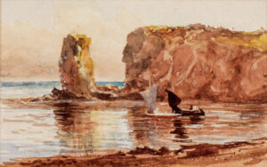 NAFTEL Paul Jacob R.W.S. (1817-1891) - The coast of Guernsey.