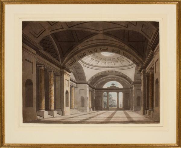 NASH Frederick John O.W.S. (1782-1856) - Architectural perspective.