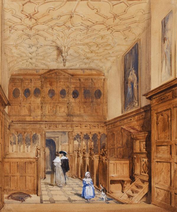 NASH Joseph 'Mansions' (1809-1878) - The interior of a Jacobean chapel.