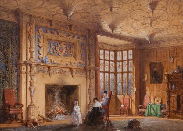NASH Joseph 'Mansions' O.W.S. (1809-1878) - Bramhall Hall, Cheshire.