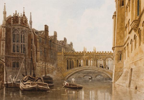 NASH Frederick. O.W.S. (1782-1856) - Cambridge: St John's College.