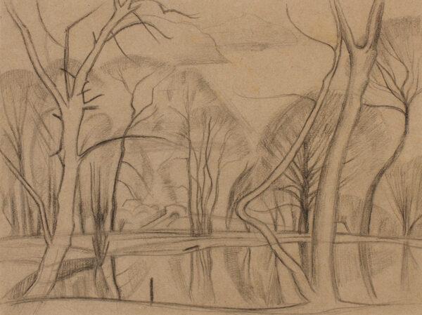 NASH John R.A. (1893-1977) - Lake and trees.