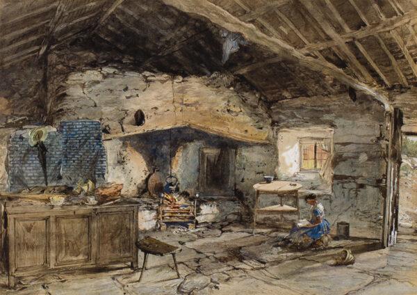 NASH Joseph O.W.S. (1809-1878) - Welsh cottage interior.
