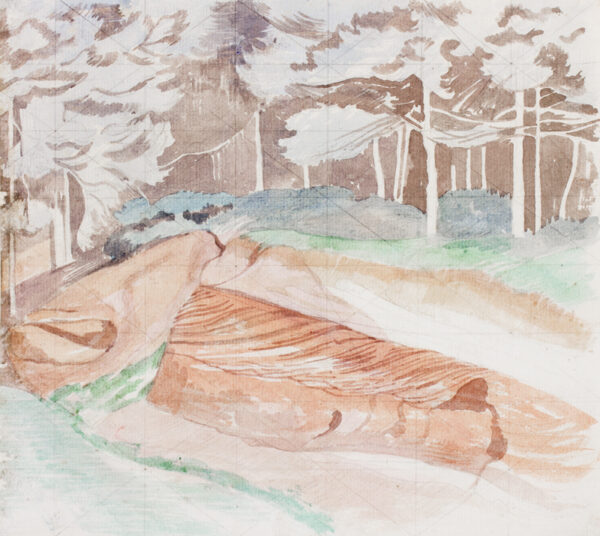NASH John R.A. (1893-1977) - Woodland sandpit, Suffolk.
