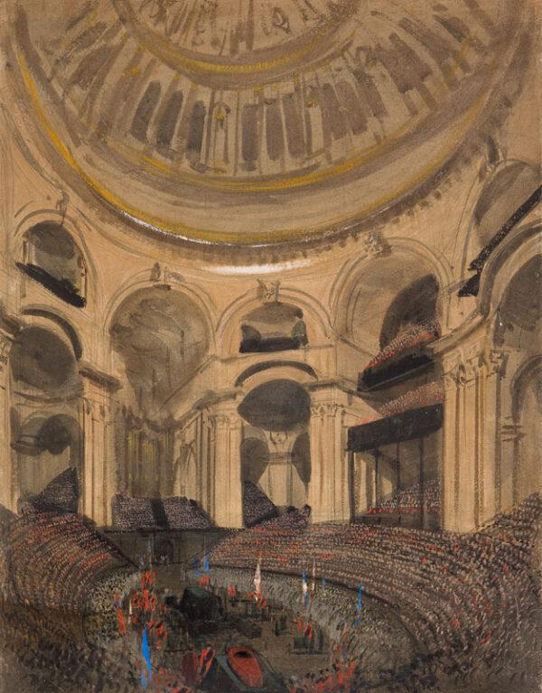 NASH Joseph (1809-1878) - 'The Duke of Wellington's Funeral in St Paul's Nov.