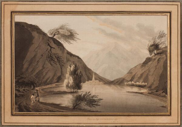 NATTES Jean Claude (c.1765-1839) - 'Lake Major on road from Geneva to Lyons'.