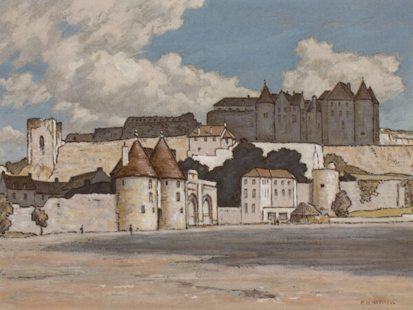 NEEDELL Philip Gregory (1886-1974) - 'Castle at Dieppe'.